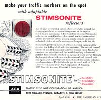 Stimsonite magazine spread on road reflectors