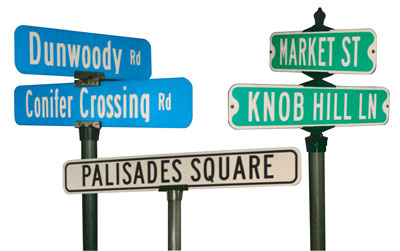 Reflective Street Sign