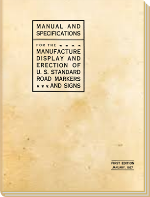 AASHO Rural Sign Manual cover, 1927