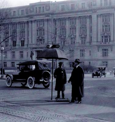 Early traffic control, Washington DC, 1913
