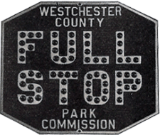 A Full Stop sign from 1929 with cataphotes