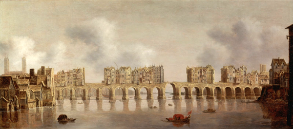 London Bridge in the 1700s, one site of primitive traffic control