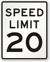 Modern Speed Limit Sign
