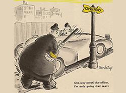 Vintage traffic sign history