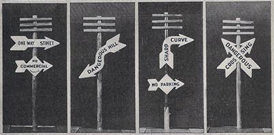 One-Way signs in 1925