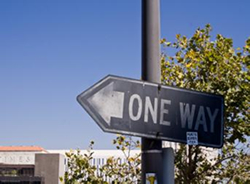One-Way Sign 1960's or the 1970's