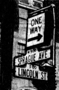 One Way Street Signs posted in 1955