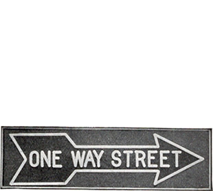 One-Way Street signs
