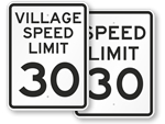 30 MPH Signs