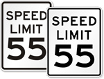 55 MPH Signs