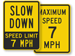 7 MPH Signs