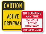 Active Driveway Signs