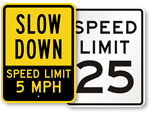 Advisory Speed Limit Signs