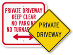 All Driiveway Signs