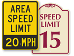 Area Speed Limit Signs