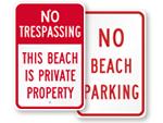 Beach Parking Signs