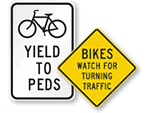 Bicycle Traffic and Warning Signs