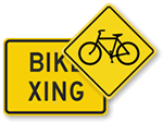 Bike Crossing Signs