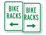 Bike Rack Signs