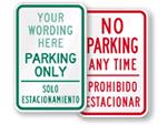 Bilingual Parking Signs