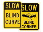 Blind Curve Signs