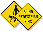 Blind Person Warning Signs