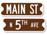 Brown Street Name Signs - 6