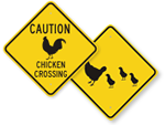 Chicken Crossing Signs