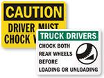 Chock Wheel Signs