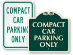 Compact Car Parking Signs