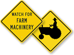 Crossing Signs for Farms