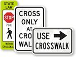 Crosswalk and Sidewalk Signs