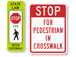 Crosswalk & Sidewalk Signs