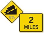 Custom Distance Road Signs