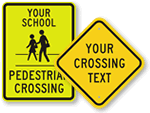 Custom Pedestrian Signs