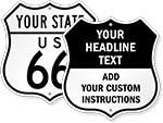 Custom Shield Signs