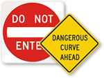 Danger Road Signs