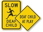 Deaf Child signs