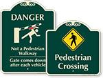 Designer Pedestrian Signs