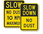 Dust Control Signs