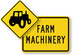 Farm Machinery Crossing Signs
