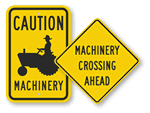 Farm Machinery Signs