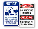 Farm Safety Signs