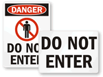Printable Free Do Not Enter Signs