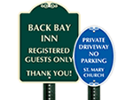 Custom Octagon Parking Signs