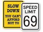 Funny Speed Limit Signs