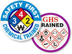 Right-to-Know Trained Hard Hat Stickers