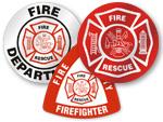 Fire Helmet Decals