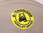 Forklift Certification Hard Hat Sticker