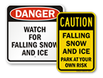 Ice and Snow Warning Signs